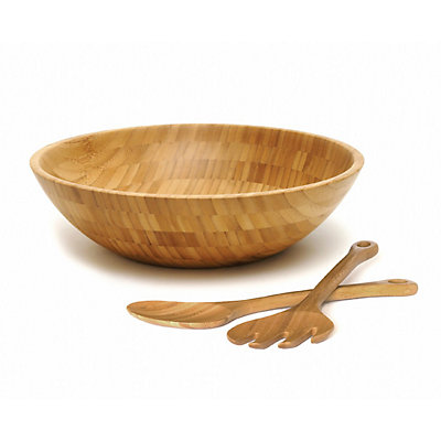 Lipper Bamboo 3-pc. Salad Serving Bowl and Utensil Set