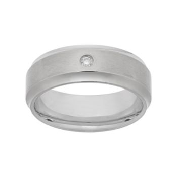Diamond Accent Titanium Wedding Band - Men