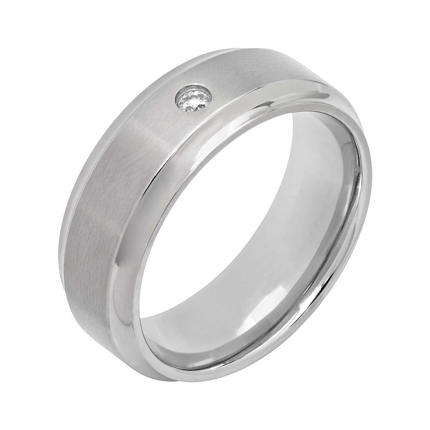men s twin shop inlay mens ti with alpha titanium black ring rings silver