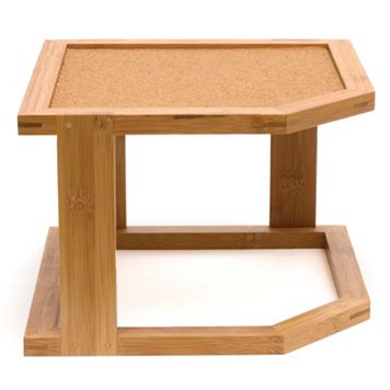 Lipper Bamboo & Cork 2-Tier Corner Shelf