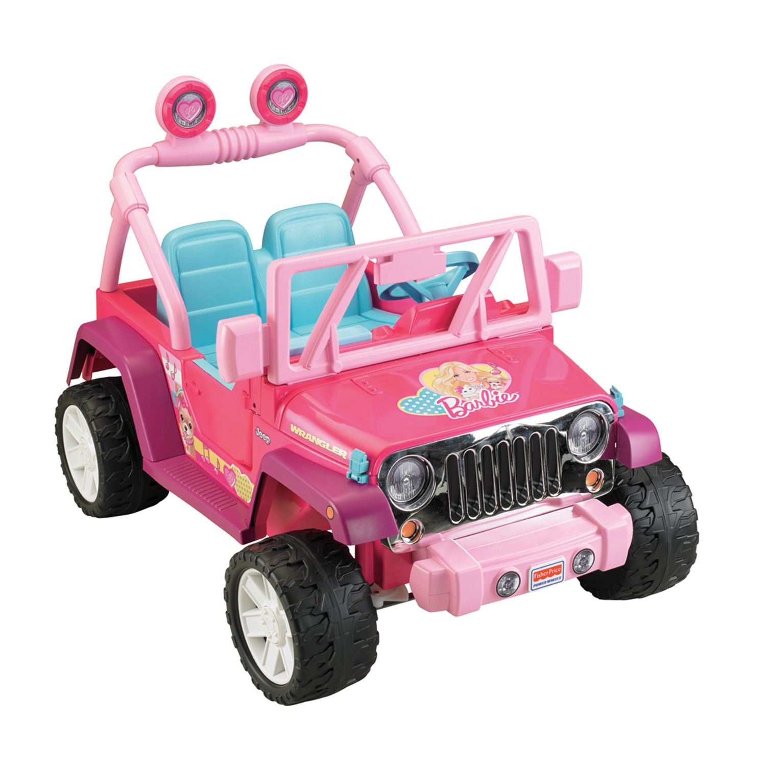 power wheels barbie ride on jeep wrangler by fisher price