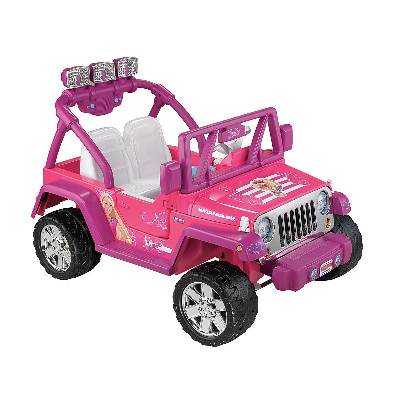 Barbie Power Wheels Jammin' Jeep Wrangler by Fisher-Price (Pink)