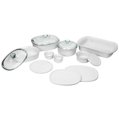 CorningWare French White 14-pc. Bakeware Set