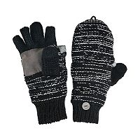 MUK LUKS Side-Marled Convertible Mittens - Men