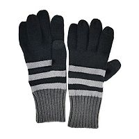 MUK LUKS Ribbed Striped Gloves - Men