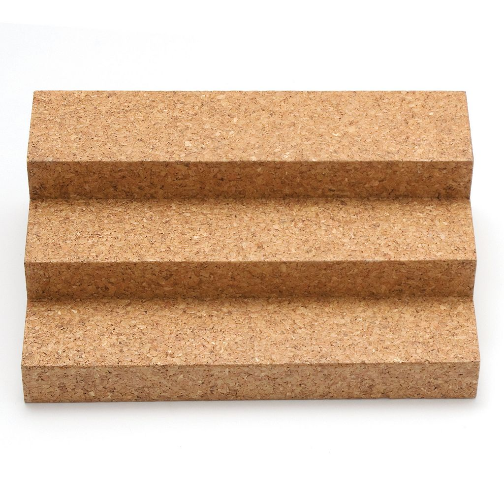 Lipper Bamboo & Cork Expandable 3-Tier Spice Step Shelf