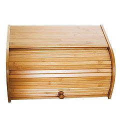 Lipper Bamboo Roll Top Bread Box