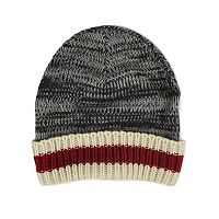 MUK LUKS Sock Striped Marled Cuff Beanie - Men