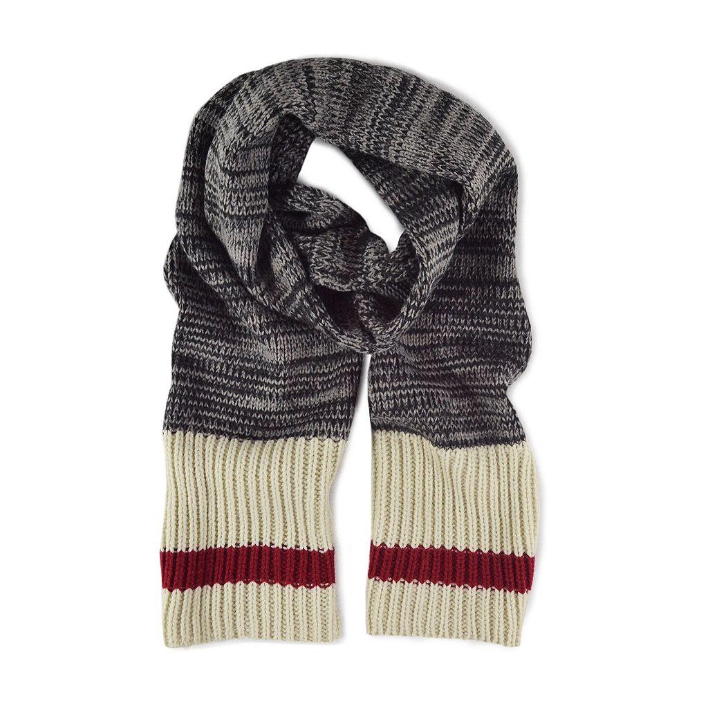 MUK LUKS Marled Sock Striped Scarf - Men