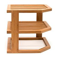 Lipper Bamboo Three-Tier Corner Shelf