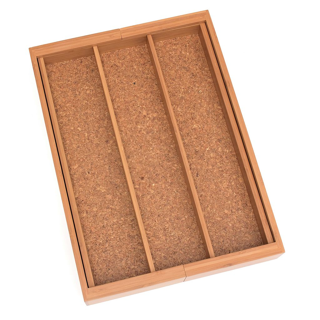 Lipper Bamboo and Cork Expandable Utensil Holder