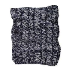 MUK LUKS Cable-Knit Funnel Scarf - Men