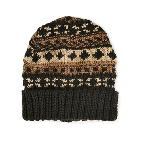 MUK LUKS Fairisle Beanie - Men