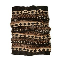 MUK LUKS Fairisle Funnel Scarf - Men