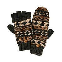 MUK LUKS Fairisle Convertible Mittens - Men