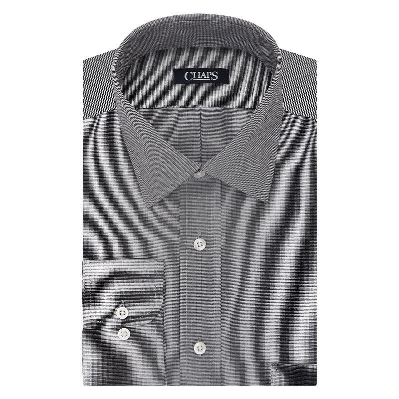 Men's Chaps Patterned Classic-Fit Broadcloth Dress Shirt