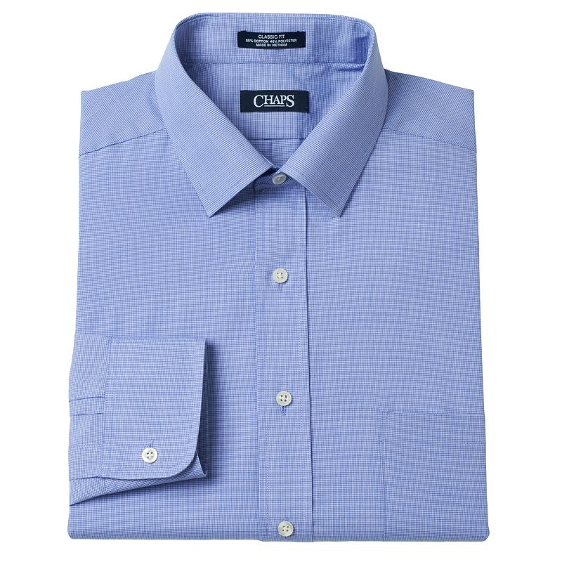 Men's Chaps Patterned Classic-Fit Broadcloth Dress Shirt