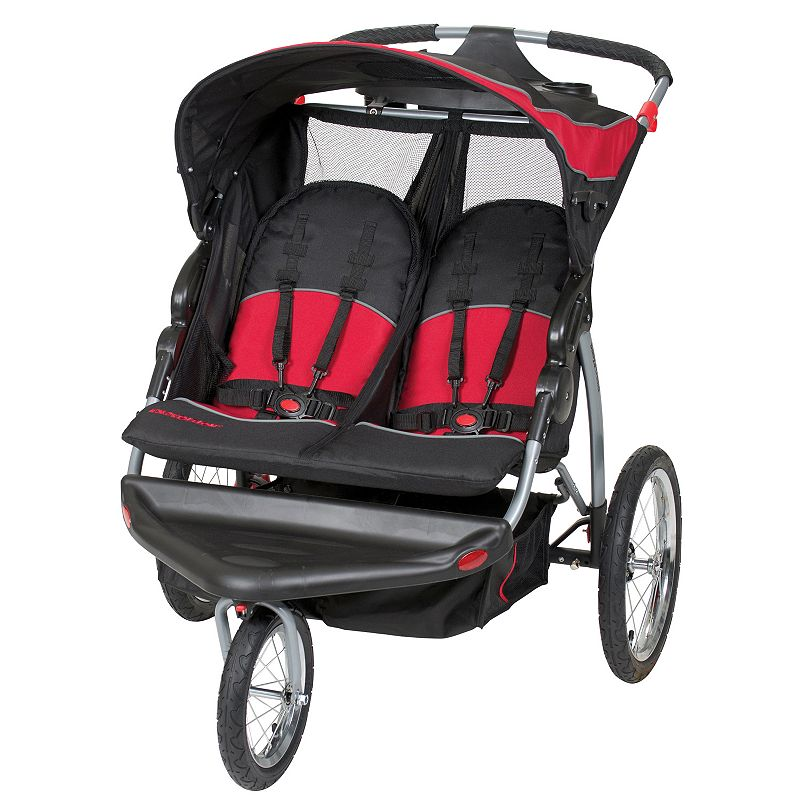 Baby Trend Centennial Expedition Double Jogger Stroller, Black