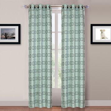 Portsmouth Home Blue Katrina Window Curtains - 84'' x 80''