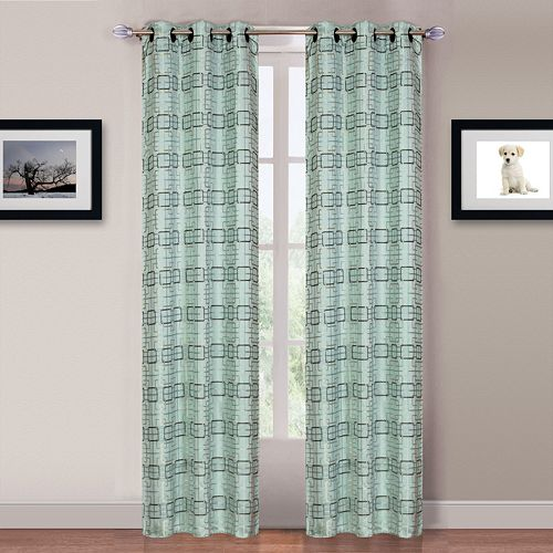 Portsmouth Home Blue Katrina 2-pack Window Curtains - 84'' x 80''