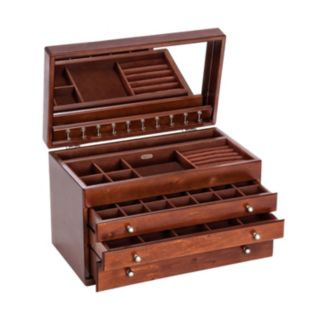 Mele and Co. Wood Jewelry Box