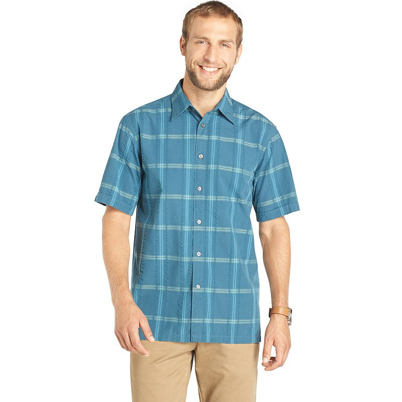 Imported seersucker shirt kohl 39 s for Van heusen plaid shirts