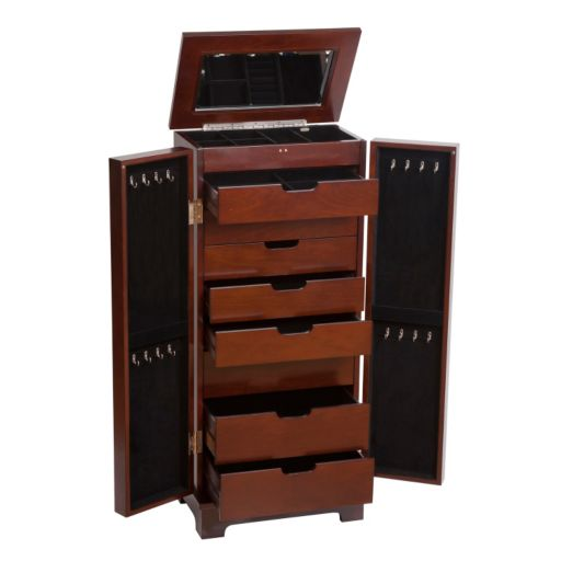 Mele and Co. Wood Jewelry Armoire
