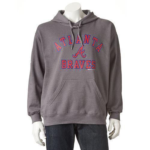 Men's Stitches Atlanta Braves Pullover Fleece Hoodie