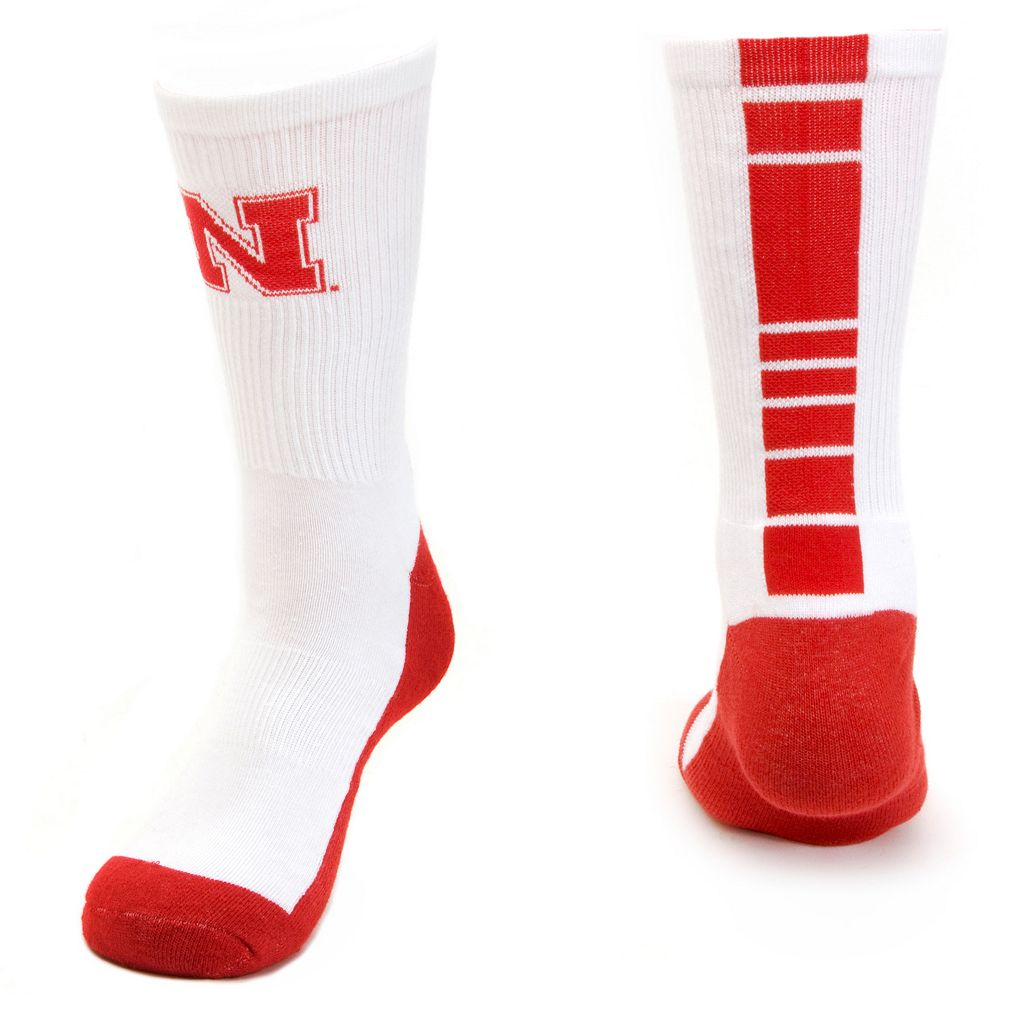 Men's Mojo Nebraska Cornhuskers Champ 1/2-Cushion Performance Crew Socks