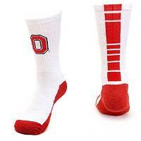 Men's Mojo Ohio State Buckeyes Champ 1/2-Cushion Performance Crew Socks