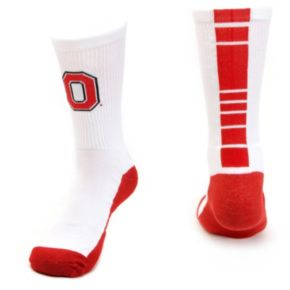 Men's Mojo Ohio State Buckeyes Champ 1/2-Cushion Performance Crew Socks