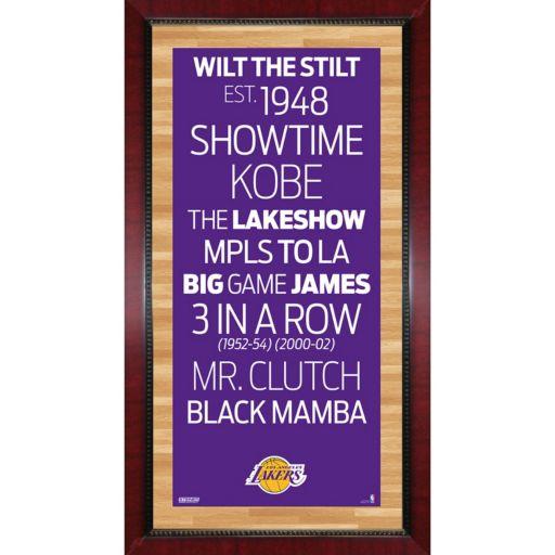 "Steiner Sports Los Angeles Lakers 32"" x 16"" Vintage Subway Sign"