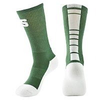 Men's Mojo Michigan State Spartans Champ 1/2-Cushion Performance Crew Socks