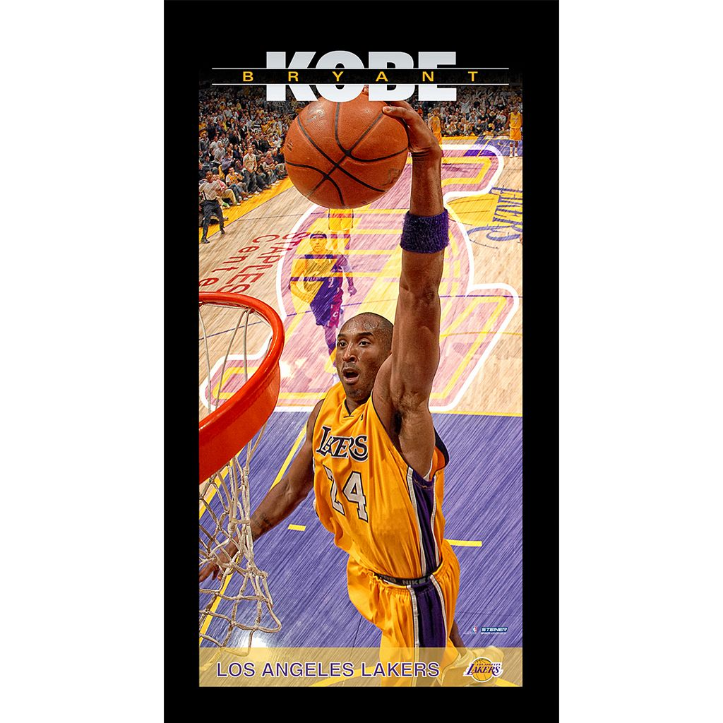 Steiner Sports Los Angeles Lakers Kobe Bryant 10'' x 20'' Profile Wall Art