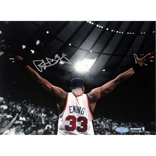 """Steiner Sports New York Knicks Patrick Ewing Arms Outstretched 8"""" x 10"""" Signed Photo"""