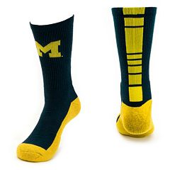 Men's Mojo Michigan Wolverines Champ 1/2-Cushion Performance Crew Socks