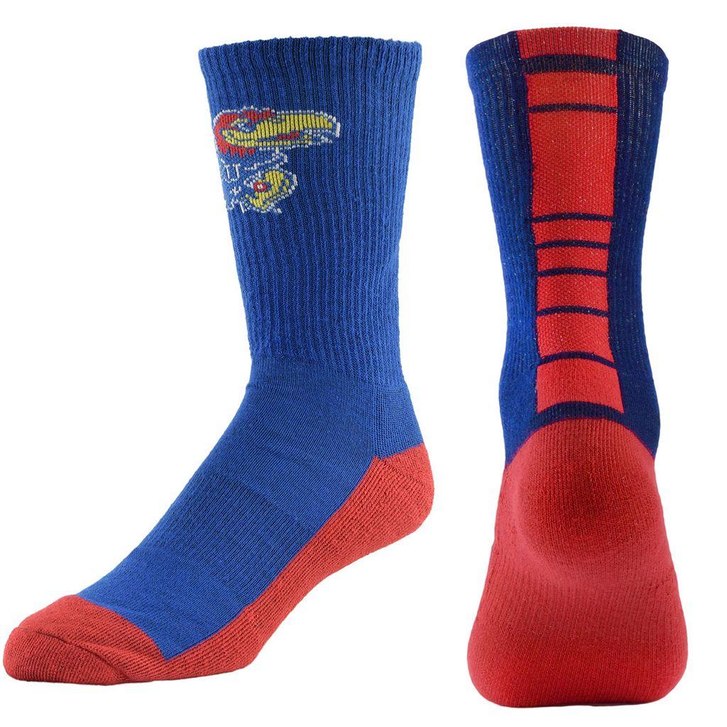 Men's Mojo Kansas Jayhawks Champ 1/2-Cushion Performance Crew Socks