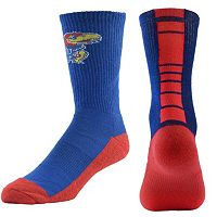 Men's Mojo Kansas Jayhawks Champ 1/2-Cushion Performance Crew Socks