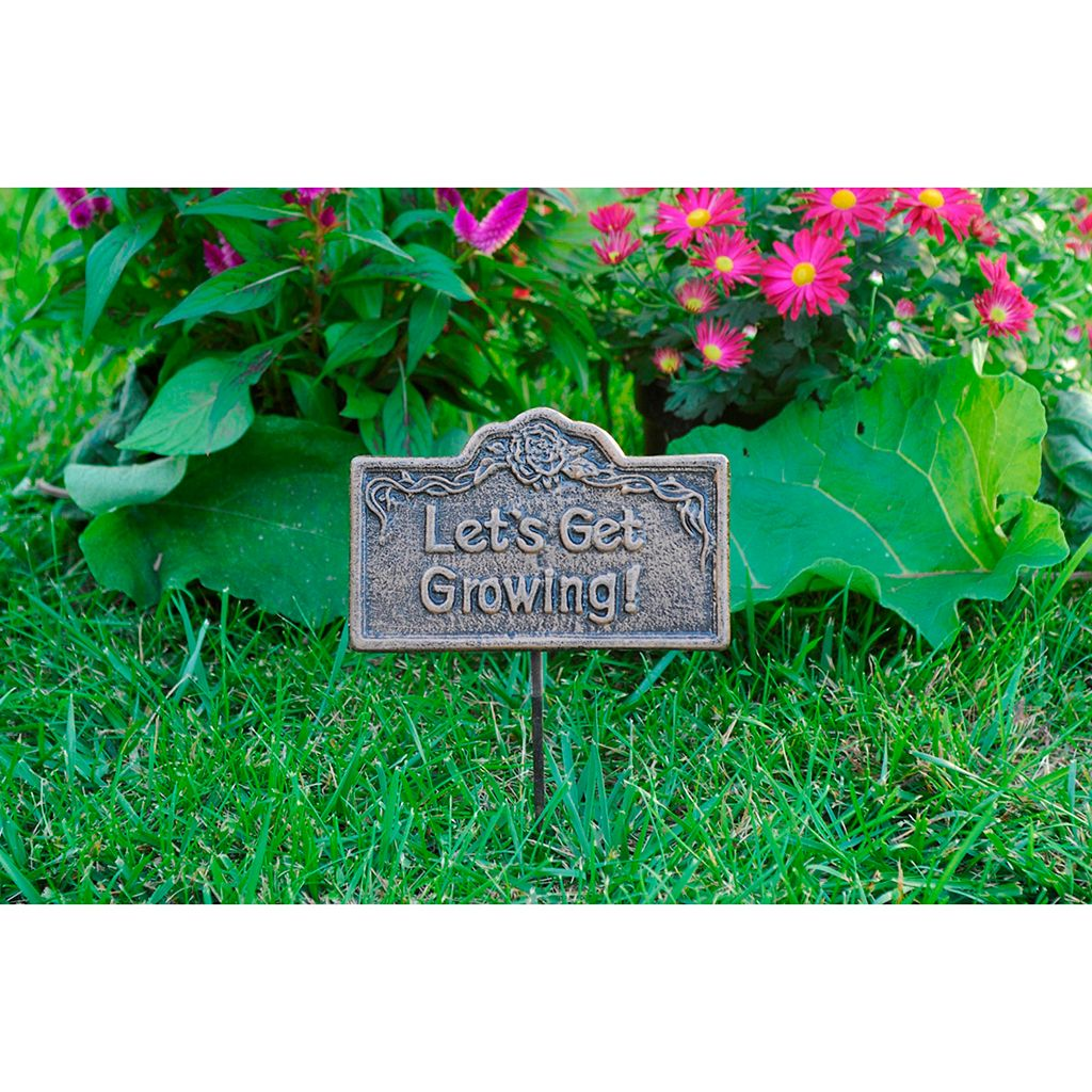 Lets Get Growing Outdoor Garden Marker