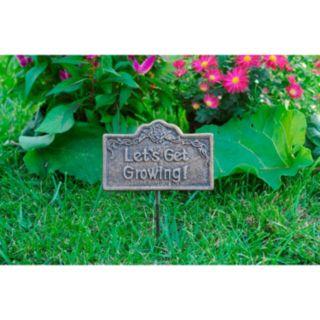 Lets Get Growing Outdoor Garden Marker