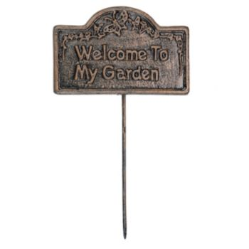 Welcome To My Garden Outdoor Garden Marker