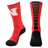 Men's Mojo Nebraska Cornhuskers Champ 1/2-Cushion Performance Crew Socks