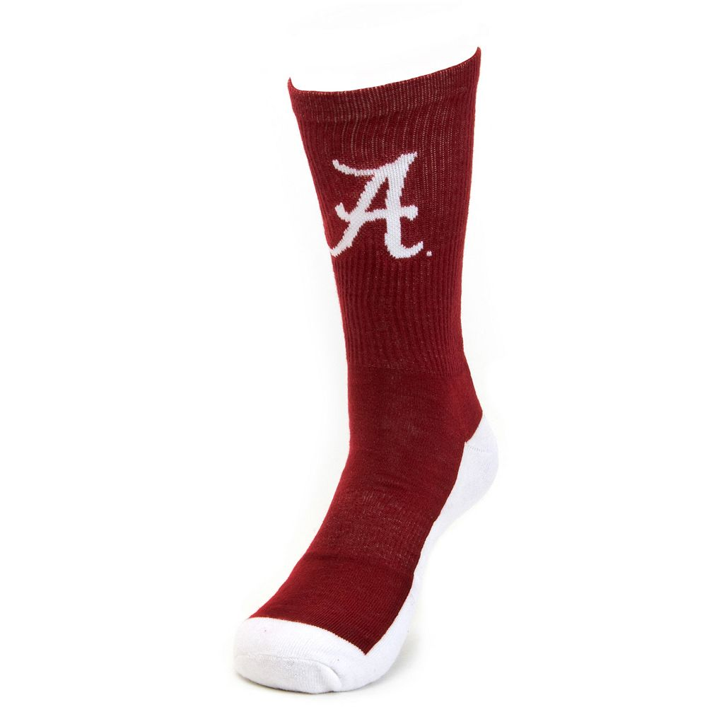 Men's Mojo Alabama Crimson Tide Champ 1/2-Cushion Performance Crew Socks