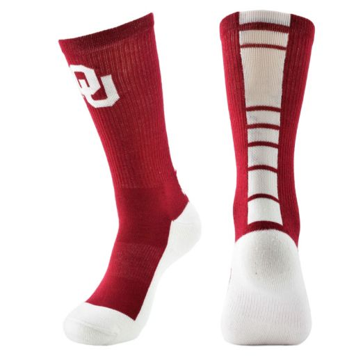 Men's Mojo Oklahoma Sooners Champ 1/2-Cushion Performance Crew Socks