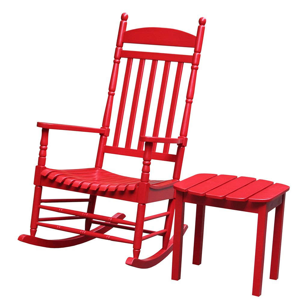 2-piece Porch Rocking Chair & Side Table Set