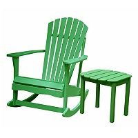 2 pc Adirondack Rocking Chair & Side Table Set