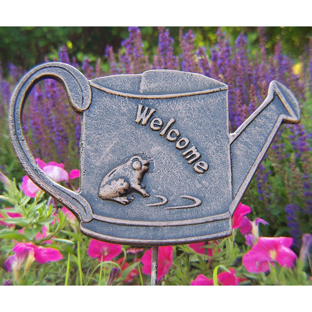 Welcome Frog Outdoor Garden Marker