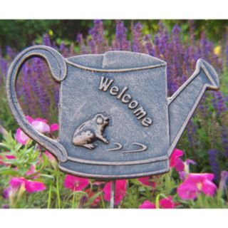 Welcome Frog Outdoor Garden Marker