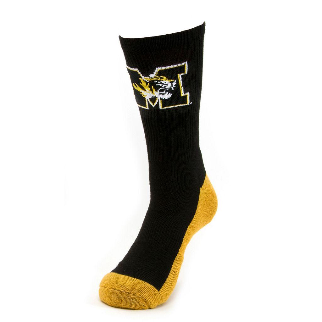 Men's Mojo Missouri Tigers Champ 1/2-Cushion Performance Crew Socks