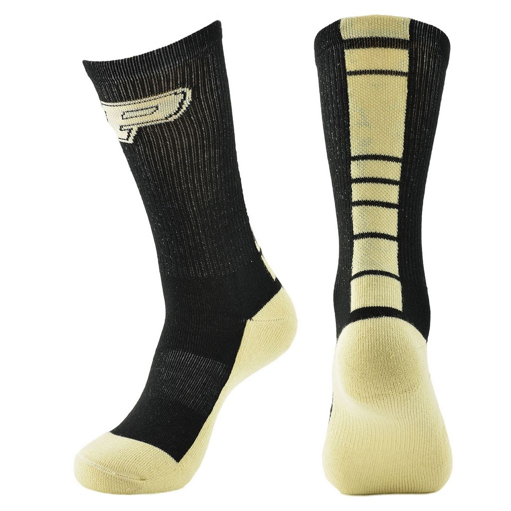 Men's Mojo Purdue Boilermakers Champ 1/2-Cushion Performance Crew Socks